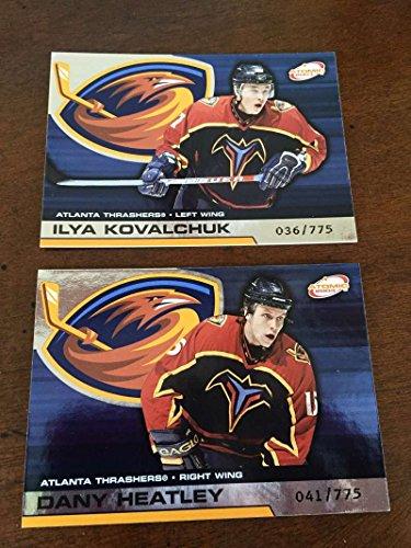2002-03 Pacific Atomic Hobby Atlanta Thrashers Team Set Rare 2 Cards Kovalchuk ()