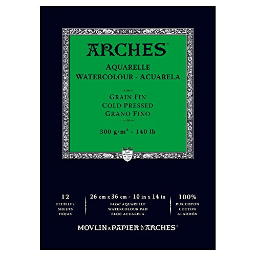 Arches Watercolor Paper Pad, 140 pound, Cold Press, 10