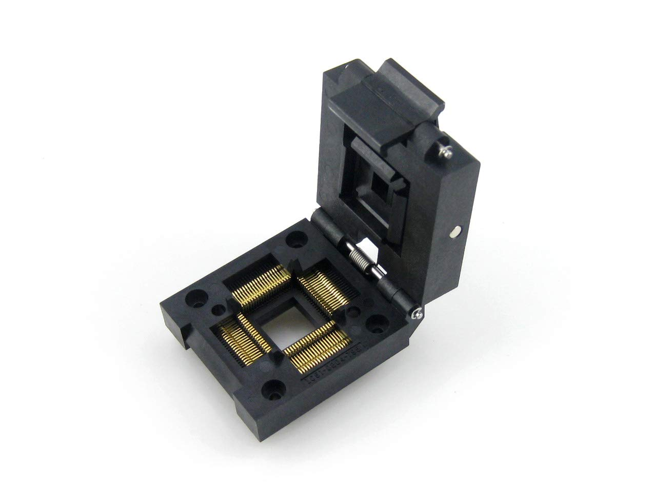 QFP80 Clamshell Programming Adapter Socket/Burning Socket/IC Test Socket IC51-0804-795, 80-Pin, 0.65mm Pitch, Yamaichi IC Test Burn-in Socket, Applied to QFP80, TQFP80, FQFP80, PQFP80 Packages. by pzsmocn