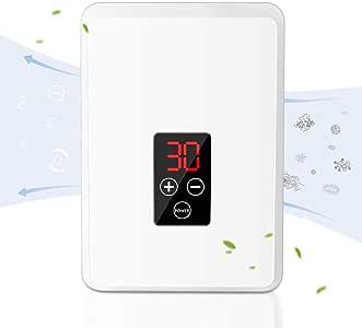 Purificador de aire, generador de ozono con pantalla LCD, esterilizador de fruta, limpiador de aire para un aire óptimo en el dormitorio, la habitación de los niños y la oficina: Amazon.es: Hogar