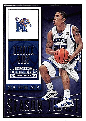 Derrick Rose Basketball Card (Memphis, College Legend) 2015 Panini Contenders Draft Picks #28