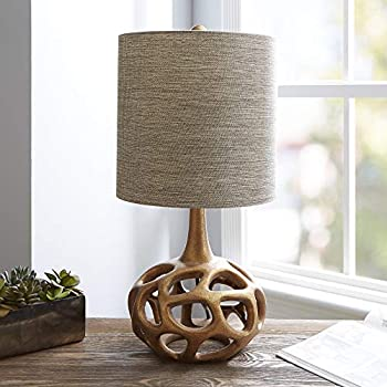 "Silverwood CPLT1379-G-COM The Clove Table Lamp with Shade, Gold, 23"" H"