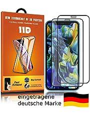 11D Panzer Glas Schutzglas Folie [2 Stück] | kompatibel mit iPhone X / XS / 11 Pro | 9H Härte HD, Hüllenfreundlich | vollständige Abdeckung | Touch kompatibel 9H-Härtegrad | Anti-Öl & Anti-Bläschen