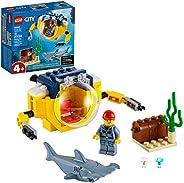 LEGO City Ocean Mini-Submarine 60263, Underwater Playset, Featuring a Toy Submarine, Pirate Treasure Chest, Ha