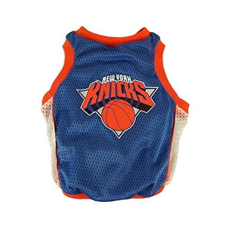 NBA New York Knicks Basketball Dog Jersey, Small