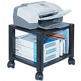 Kantek : Two-Shelf Mobile Printer Stand, 17 x 13-1/4 x 14-1/8, Black -:- Sold as 2 Packs of - 1 - / - Total of 2 Each