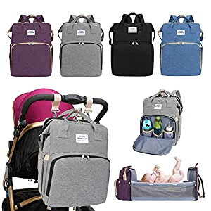 Zhangpu Multifunctional Diaper Bag Portable Folding Baby Travel Cradle Large Backpack Baby Diaper Changing Table Pads