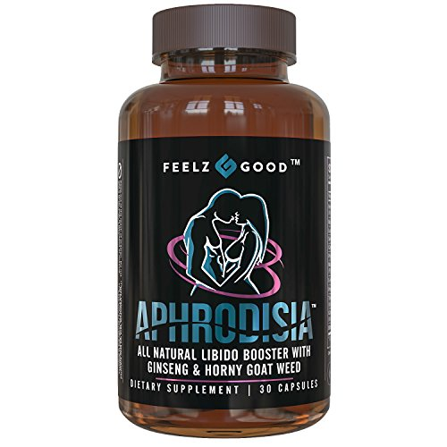 APHRODISIA – Men's & Women's Booster for Bedroom Vitality – Premium Horny Goat Weed Extract with Maca Tribulus & Ginseng Natural Energy, 400mg Epimedium with Icariins – Feelz Good For Sale