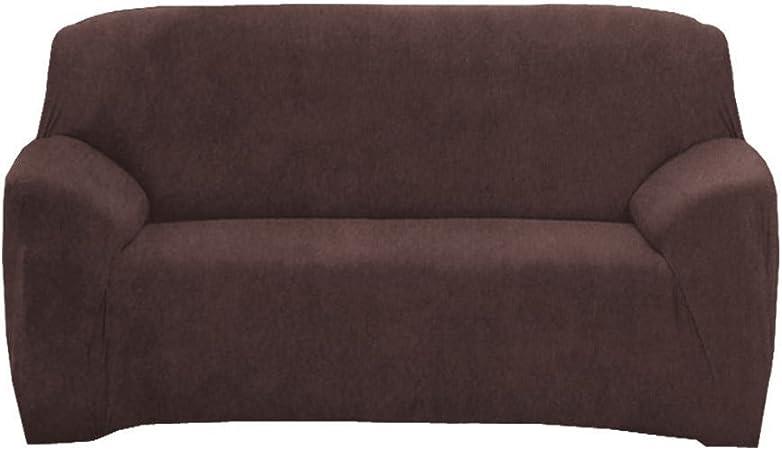 Housse de protection en tissu extensible pour canap/é 1//2//3//4/places 1 place chocolat