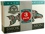 Alaska Smokehouse Jumbo Smoked Salmon (8 Oz), 3Count Variety Pack