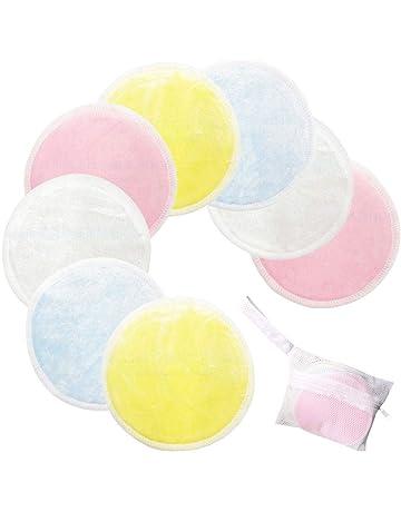 AOLVO 20 Paquetes de Almohadillas Reutilizables Suaves Removedor de Maquillaje, Capas Dobles Almohadillas de Removedor