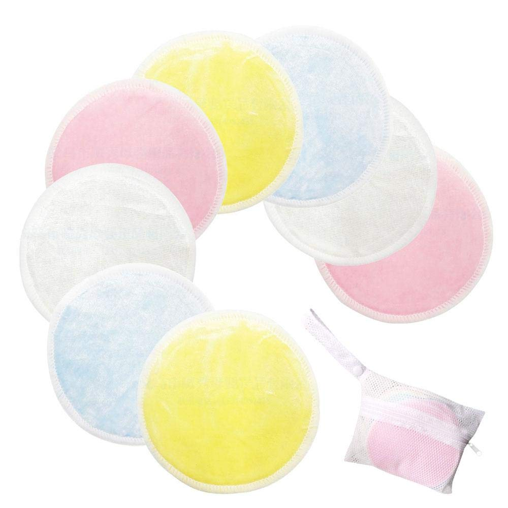 KOBWA Reusable Make Up Remover Pads, Washable Soft Makeup Remover Cloth Cotton Pad With Laundry Bag, Skin Care Facial Clean Wipes Face/Eye/Lip Clean for Women Men