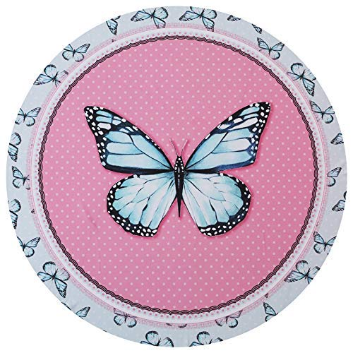 UOT Round Beach Towels Microfiber Pink Butterfly