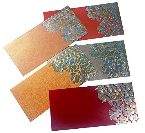 PARTH IMPEX Premium Shagun Gift Envelope for Cash (Pack of 50) 7.5
