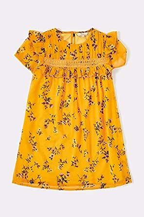 فستان كاجوال للبنات من اف جي 4 - مقاس 15-16 سنة برتقالي 15 - 16 سنة