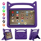 All-New Fire HD 8 Case for kids – YooNow Light Weight Shock Proof Convertible Handle Kid-Proof Cover Kids Case for Amazon Fire HD 8 inch Display Tablet (2017/2016 Release,7th/6th Generation) (Purple) For Sale