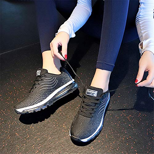 Monrinda Breathable Absorbing Trainers Shoes Black0 4 Shock Women Air Shoes Sport 9 5 Outdoor Men Running Athletic Size Jogging Fitness FSCwrqF