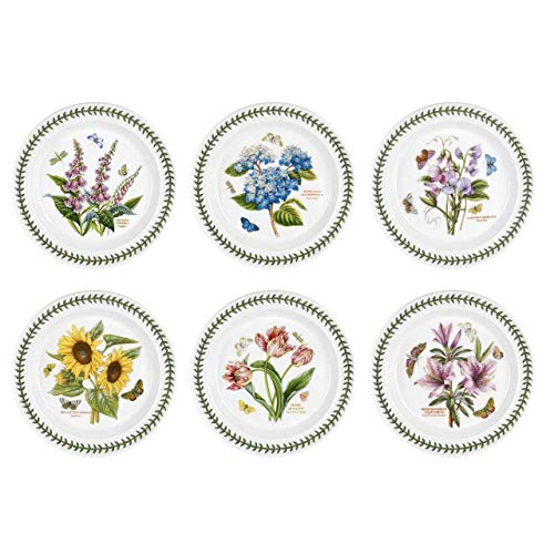 (Portmeirion Botanic Garden Set of 6 Dinner Plates (Assorted Motifs))