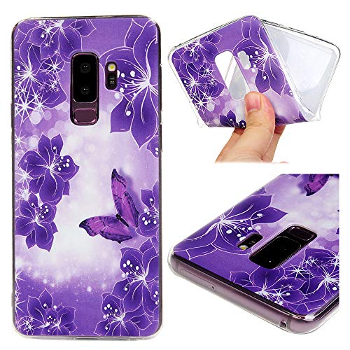 Price comparison product image Galaxy S9 Plus Case, Kawaii Colorful Cartoon Painting Crystal Clear Shockproof Soft TPU Shell Shock Absorption Ultra-Thin Slim Lightweight Rubber Silicone Bumper TPU Cover for Samsung Galaxy S9 Plus