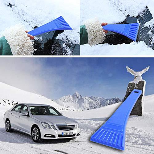 VT BigHome Blue Car Vehicle Windshield Snow Ice Shovel Scraper Cleaning Tool Portable Car Snow Brush Ice Scraper Auto Accessories
