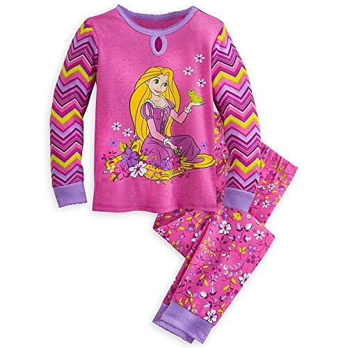 Disney Store Princess Pj (Disney Store Princess Tangled Rapunzel Girl 2PC Long Sleeve Pajama Set Size 7)