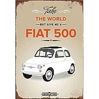 Hunnry Fiat 500 Poster Póster De Pared Metal