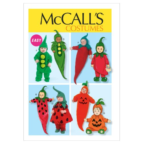 McCall Patterns M6627YA5 Infants' Costumes Sewing Pattern, All (Halloween Stuffed Peppers)