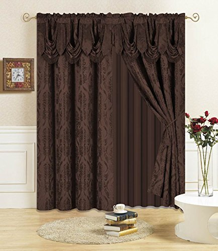 (All American Collection 4 Piece Drape Set 96