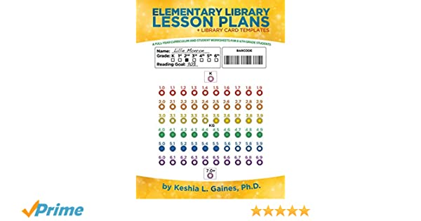 Elementary Library Lesson Plans A Full Year