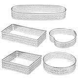 Tongcloud 5pcs Stainless Steel Tart Ring