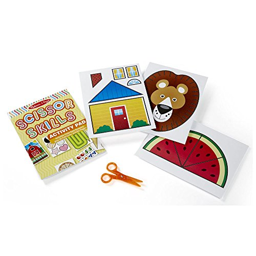 51mfCh0G8BL - Melissa & Doug Scissor Skills Activity Book With Pair of Child-Safe Scissors (20 Pages)