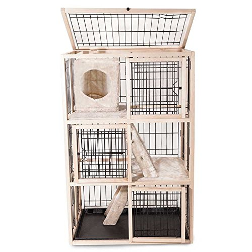Majestic Pet Products Multi-Level Cat Kennel and Playpen Cage Condo House (52.25 x 33.25 x 24 ()