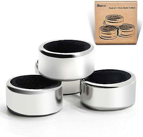 sunnyac Pack de 4 Cocina cuello, chapado Anillo antigoteo para ...