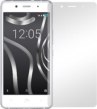 2 x Slabo protector de pantalla BQ Aquaris X5 Plus lámina ...