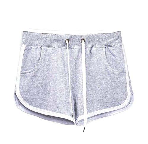 per da fitness Grigio donna estivi da da ginnastica il pantaloncini Pantaloncini nuoto moda R0qwvxXaf