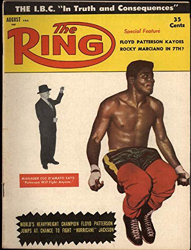 The Ring. August 1957. [Boxing Magazine] Cover: Floyd Patterson and Manager Cus D'Amato