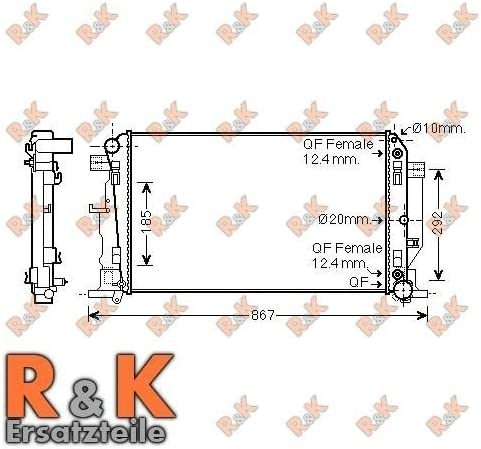 Prasco ms2445 Ventilador, refrigeración del motor: Amazon.es ...
