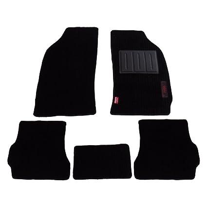 Buy Elegant Cord Black Carpet Car Mats For Ford Figo Set Of 5 Pcs