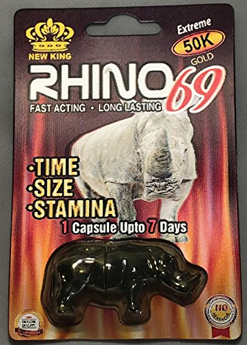 New Rhino 69 Extreme 50K Gold Male Sexual Enhancement Pill - 24 Pack by Rhino 69 Extreme 50K Gold