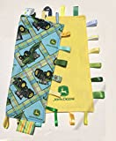 TRACTORS ~ Reversible Blanket with Ribbon Tabs