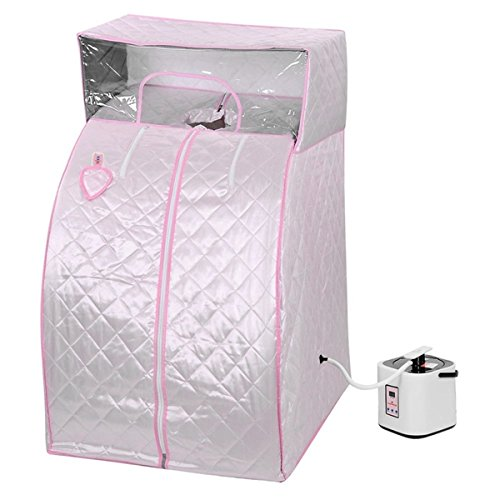 MD Group Portable Steam Sauna Tent 2L Pink Household Weight Loss Therapy Full Body Detox Massage by MD Group