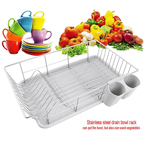 Moroly Stainless Steel Dish Rack, Kitchen Dish Drying Rack w