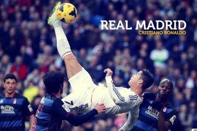 Cristiano Ronaldo Poster (Real Madrid Cristiano Ronaldo Poster 12x18 in Paper Print(12 Inch X 18 Inch, Rolled))