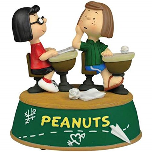 WL SS-WL-20732, Peppermint Patty and Marcie Sitting at Desks Peanuts Figurine