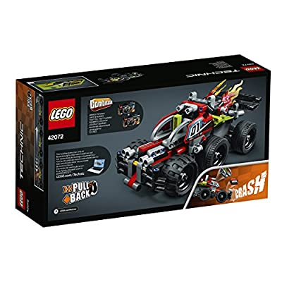 LEGO 42072 Technic Whack Racing Car Toy with Powerful Pull-Back Motor, High-Speed Action Vehicles Building Set: Toys & Games
