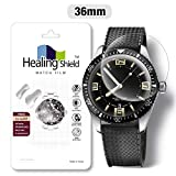 Smartwatch Screen Protector Film 36mm for Healing Shield Prime Curved Flat Wrist Watch Analog Watch Glass Screen Protection Film (36mm) [3PACK]