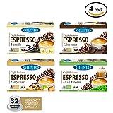 caffe italiano espresso - Giusto Sapore Caffe Italiano Espresso Italian Roasted Coffee - Nespresso Compatible Capsules - Premium Superior Quality Gourmet Brand - Family Owned (Assorted Flavors - 32 Count)