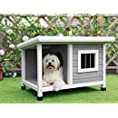 """Petsfit 33""""L X 25""""W X 23""""H Outdoor Wooden Dog House For Small Dogs"""