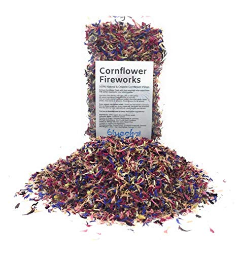 Mesmerizing Cornflower Fireworks Petals - 100% Organic, dried, grown in Germany - Natural Organically Grown Herbal Flowers for For Homemade Lattes, Tea Blends, Bath Salts, Gifts, Crafts. (Best Homemade Bath Salts)
