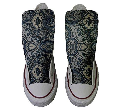 Blue Et Chaussures Personnalisé Paisley Coutume Hi produit Artisanal All Converse Sneaker Unisex Star Imprimés Italien UYgt4xO